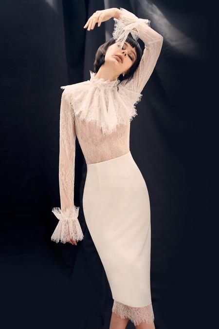 Virgin Daisy Lace Top & Skirt